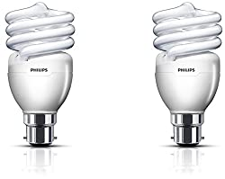 Philips Tornado T2 QFS B22 20-Watt CFL (Cool Day Light and Pack of 2)