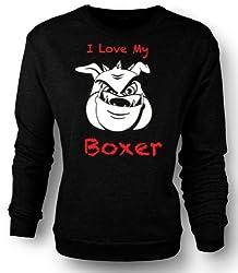 Sweatshirt I love my Boxer Dog from Black Sheep Clothing