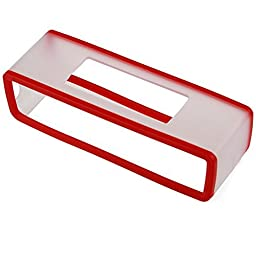 HopCentury Replacement TPU Gel Soft Case Skin Cover Pouch Box for Bose Soundlink Mini Bluetooth Speaker Red