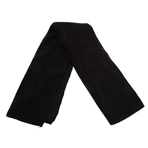 mens-plain-thermal-polar-fleece-winter-ski-scarf-158cm-x-26cm-black