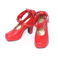 【コスプレ】 ブーツ 鹿目まどか (かなめまどか) 風 靴 衣装 道具 魔法少女まどか☆マギカ 赤色 (23cm)