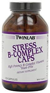 Twinlab Stress B-Complex Caps with Vitamin C, 250 Capsules