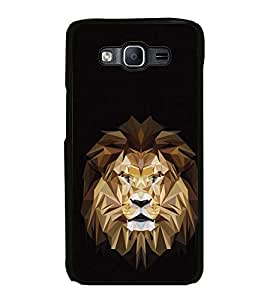 Vizagbeats Lion Polygonal Back Case Cover For Samsung Galaxy On7