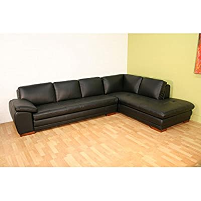 Baxton Studio Black Leather Sectional Sofa