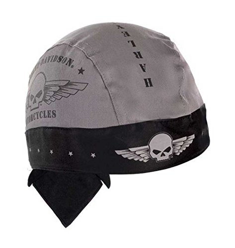 Harley-Davidson Men's Head Wrap, Skull Military Wings, Moisture Wicking HW04475 (Harley Skull Cap compare prices)