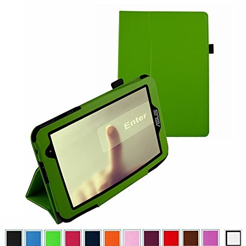 """Mama Mouth Slim Folio 2-Folding Case For 7"""" Asus Memo Pad 7 Me176C Me176Cx Android Tablet Green"""