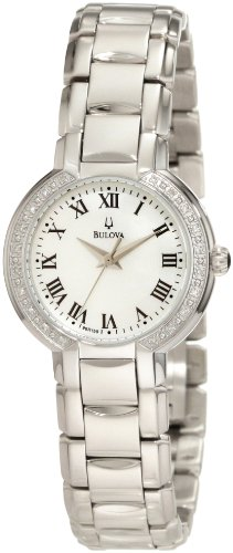 Bulova Women's 96R159 Classic Round Diamond Accented Watch