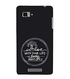 EPICCASE Be in Love Mobile Back Case Cover For Lenovo Vibe Z K910 (Designer Case)