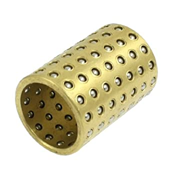 Gold Tone Brass Copper Ball Bearing Cage Bushing Retainer