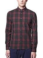Nowadays Camisa Hombre (Negro / Burdeos)