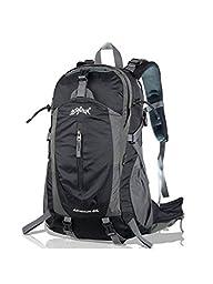 Aonijie 40 Liter Black Color Professional Waterproof Outdoor Sports Climbing Backpack Bag Cover Mountaineering Backpack Shoulder Bag Camping Hiking Backpack Rucksack