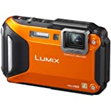 Panasonic Lumix DMC-FT5EB-D Compact Camera - Orange (16.1MP, 4.6x Optical Zoom with Leica DC Lens, Wi-Fi with NFC, 28mm Wide Angle, 12m Waterproof, 2m Shockproof, Freeze-Proof)