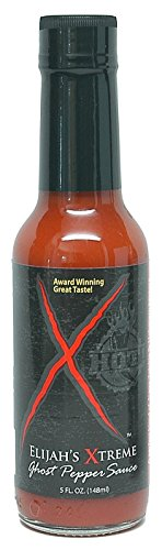 Elijah's Xtreme Ghost Pepper Sauce, Hot And Fiery Extreme Heat With Ultimate Gourmet Flavor, Vegan, Gluten Free, 5 oz (Hot Sauce Bottles Empty 12 Oz compare prices)