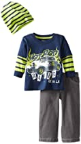 Little Rebels Baby-boys Infant 3 Piece Hot Rod Racer Pullover And Pant Set, Navy, 12 Months
