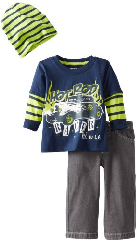Little Rebels Baby-boys Infant 3 Piece Hot Rod