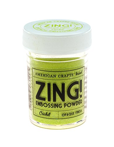 Zing opaque embossing powder 1 ounce cricket sporting for American crafts zap embossing heat gun