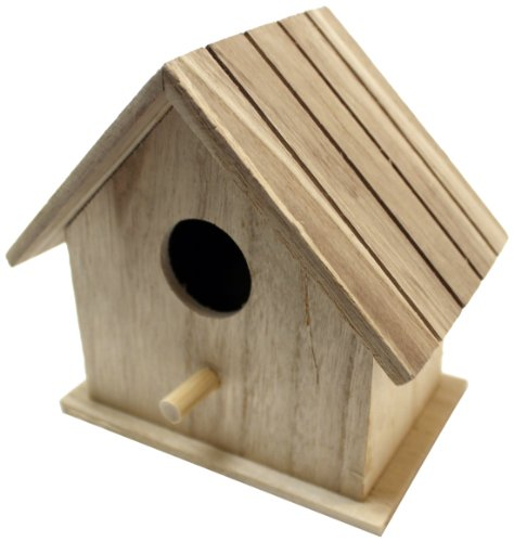 Plaid 96274 Flat Roof Birdhouse Square Wood Surface For Crafting front-830335