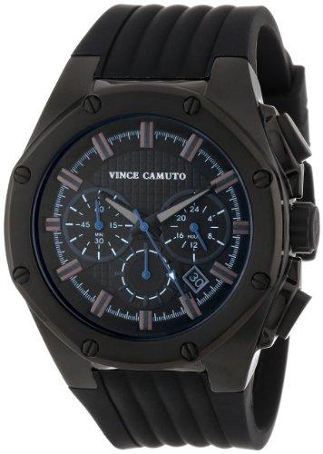 Vince Camuto VC/1032BKTI - Reloj de pulsera hombre, silicona, color negro