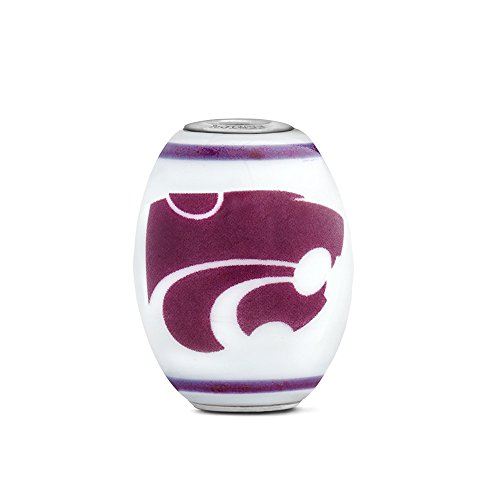 Kansas State Wildcats Large Glass Bead Fits Most European Style Bracelets