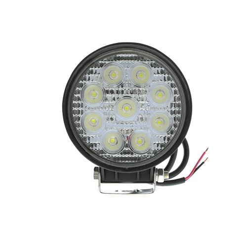 Woputuo 27W Round 9Pcs Led Work Light Lamp 9V-32V 1560 Lumen With 30 Degree Flood Driving Light,Waterproof Suitable For Most Cars Such As Off Road High Power Atv Jeep Cabin,Boat,Truck And Car