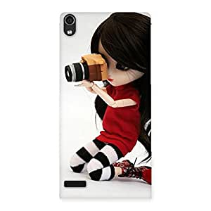 Delighted Dolly Pic Multicolor Back Case Cover for Ascend P6