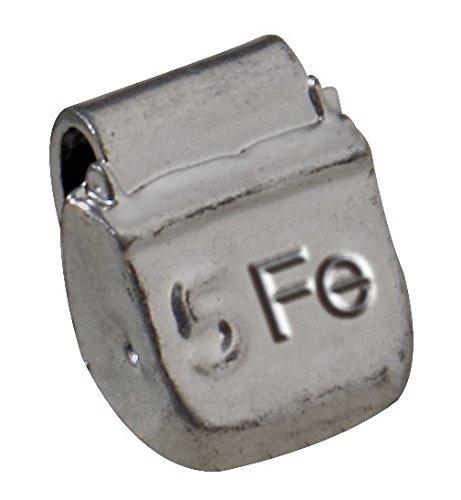 KS Tools 100.1005 - Pesi di equilibratura a gancio in acciaio per cerchioni, confezione da 100 pezzi, 5 gr