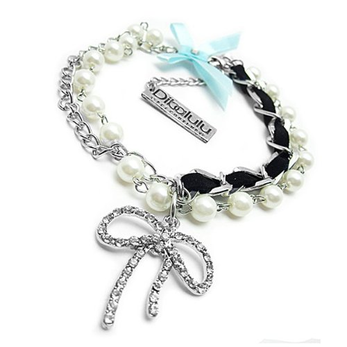 Dibalulu Pet Couture Dog Accessories - Pearl Beauty Dog Necklace - S
