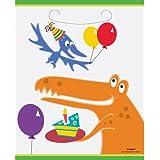 Dino Dinosaur Plastic Party Loot Bags