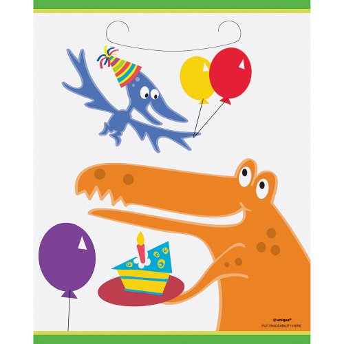 Dinosaur Party Favor Bags, 8ct - 1