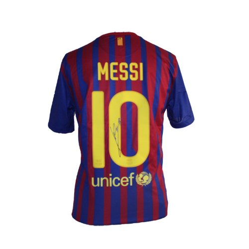 Lionel Messi Signed Barcelona Home Shirt 2011-12