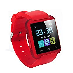 ShopAIS U8 Black Smart Notification Watch Bluetooth Watch ios Android Connect Smartwatch - Red