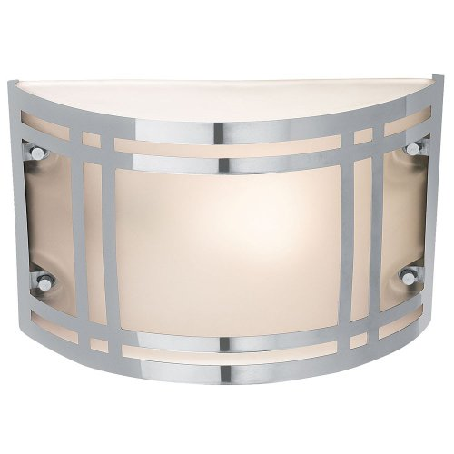 Access Lighting 20301-SS Poseidon 1-Light Wet Location Bulkhead with Frosted Glass, Stainless Steel