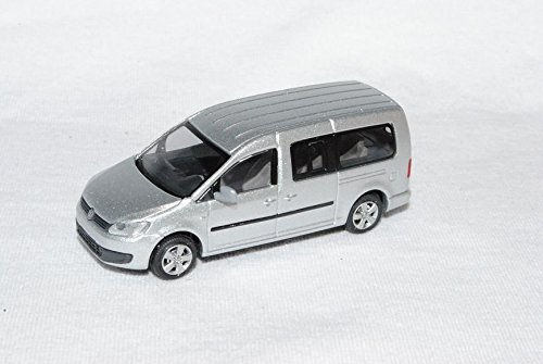 VW-Volkswagen-Caddy-Maxi-PeRSonen-Transporter-Reflex-Silber-Ab-2009-2k-3-Generation-Ho-H0-187-Rietze-Modellauto-Modell-Auto