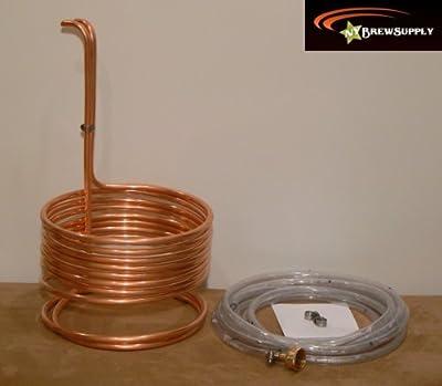 """HomeBrewStuff Super Efficient 3/8"""" x 25' Copper Wort Chiller"""