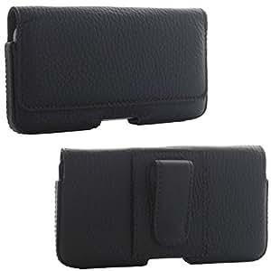 XiRRiX Echt Leder Quertasche 3.1 - Gürtelschlaufe und Stahlclip - Größe 2XL -- für Samsung Galaxy S3 Neo S5 Mini Xcover 3 etc - schwarz