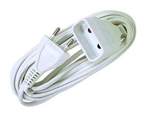 Voltman VOM530460 Prolongateur Rallonge électrique 6A 2 G0 75 2 m