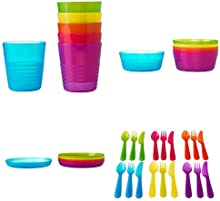 Comprar Ikea - Cubiertos para comidas niños y bebé copa cubiertos 36tlg -kalas infantiles. válido lavavajillas y microondas