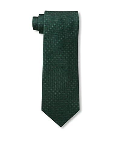 Battistoni Men's Geo Tie, Green