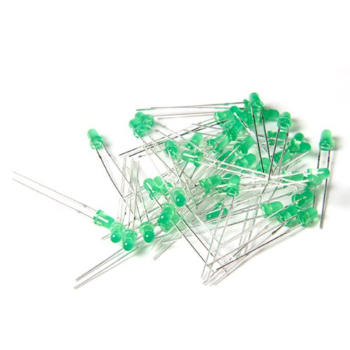 100Pcs Led 3Mm 2Pin Red Color Red Light Diffused Light For Arduino Rc Car