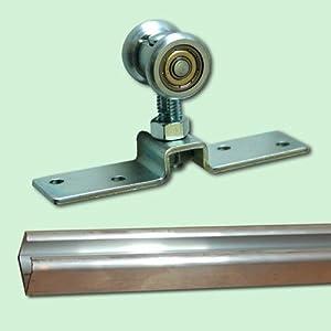 Beschlagset für Schiebetür (55 kg) inkl. Laufschiene 3m, aluminium  BaumarktKundenbewertung: