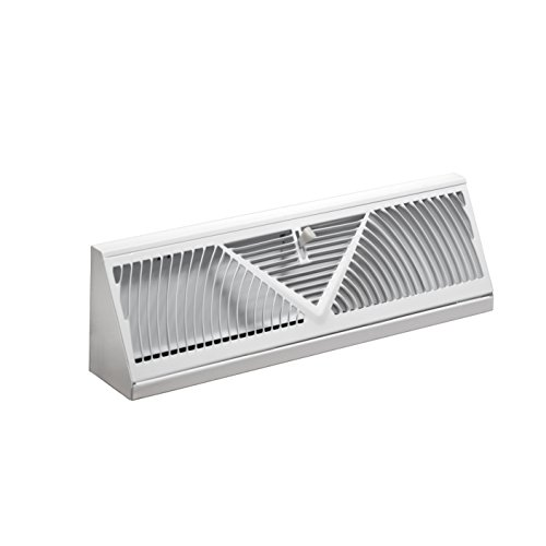 Accord ABBBWH18 Baseboard Register with Sunburst Design, 18-Inch(Duct Opening Measurement), White (Wall Air Vent compare prices)