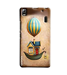 Omnam House With Boat Base And Flying With Hot Ballon Printed Designer Back Cover Case For Lenovo K3 Note