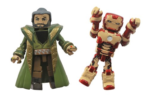 Diamond Select Toys Series 49 Marvel Minimates Iron Man 3: Iron Man Mark 47 and The Mandarin Action Figure - 1