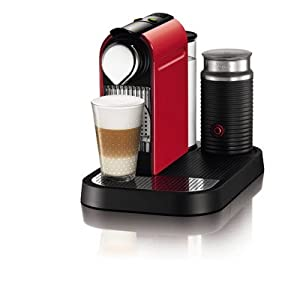 Nespresso C121-US-RE-NE1 Citiz Espresso Maker with Aeroccino Milk Frother, Red from Nespresso