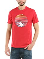 Hot Buttered Camiseta Manga Corta Sunset (Rojo)