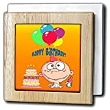 Edmond Hogge Jr Birthdays Birthday Boy and Cake Tile Napkin Holders
