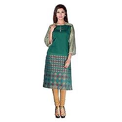Sarvottam Chanderi silk kurta with bell sleeves P00002