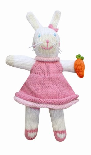 Zubels Bunny Girl Pish 12″ Eco-Friendly Plush