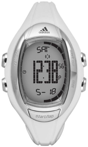 Adidas Women's ADP3098 White Resin Quartz Watch with Digital Dial