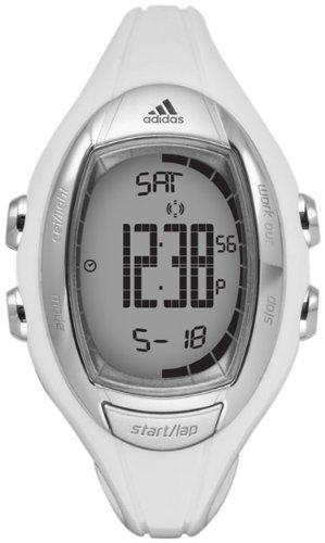 Adidas Women's ADP3098 White Resin Quartz Watch with Digital Dial